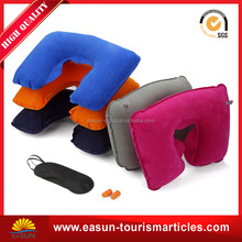 Colorful 3 in 1 Travel Set Inflatable U-shaped Neck Pillow