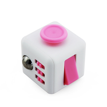 Fashionable Fun Fidget 6 sided Cube Adult Anxiety Stress Relief Toys Gift Cube 9 COLOURS-With Carry Caae and Box