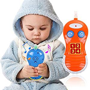 Puraid(TM) Baby Kids Learning Study Phone Toy Musical Sound Cell Phone Children Educational Toy Phones FCI#