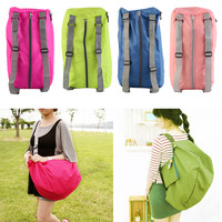 portable Zipper Soild Daily Traveling Sports Backpacks Shoulder bags Folding bag camping bag