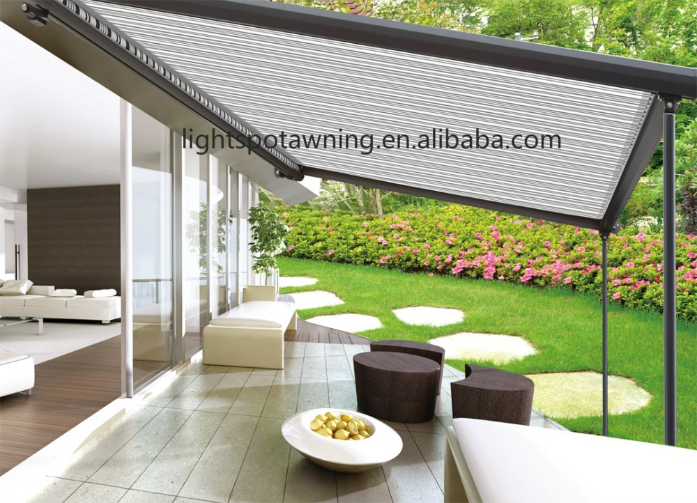 Aluminum Retractable Pergola Roof Awnings With Electric
