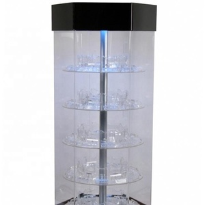 Stand Alone Transparent Perfume Glass Acrylic Display floor standing acrylic display beer glass display