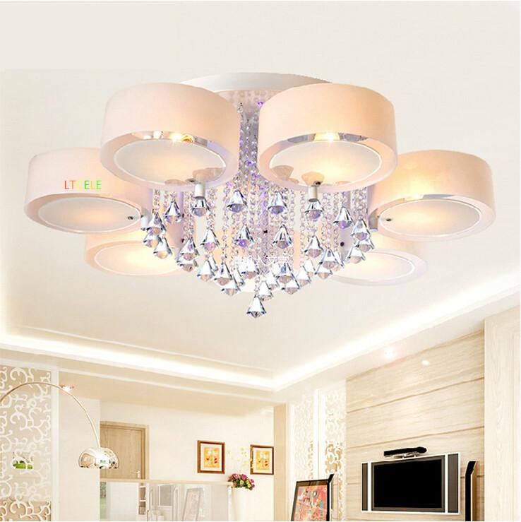 nueva llegada flush mount luces de techo de estilo moderno led crystal plafon de led lmpara
