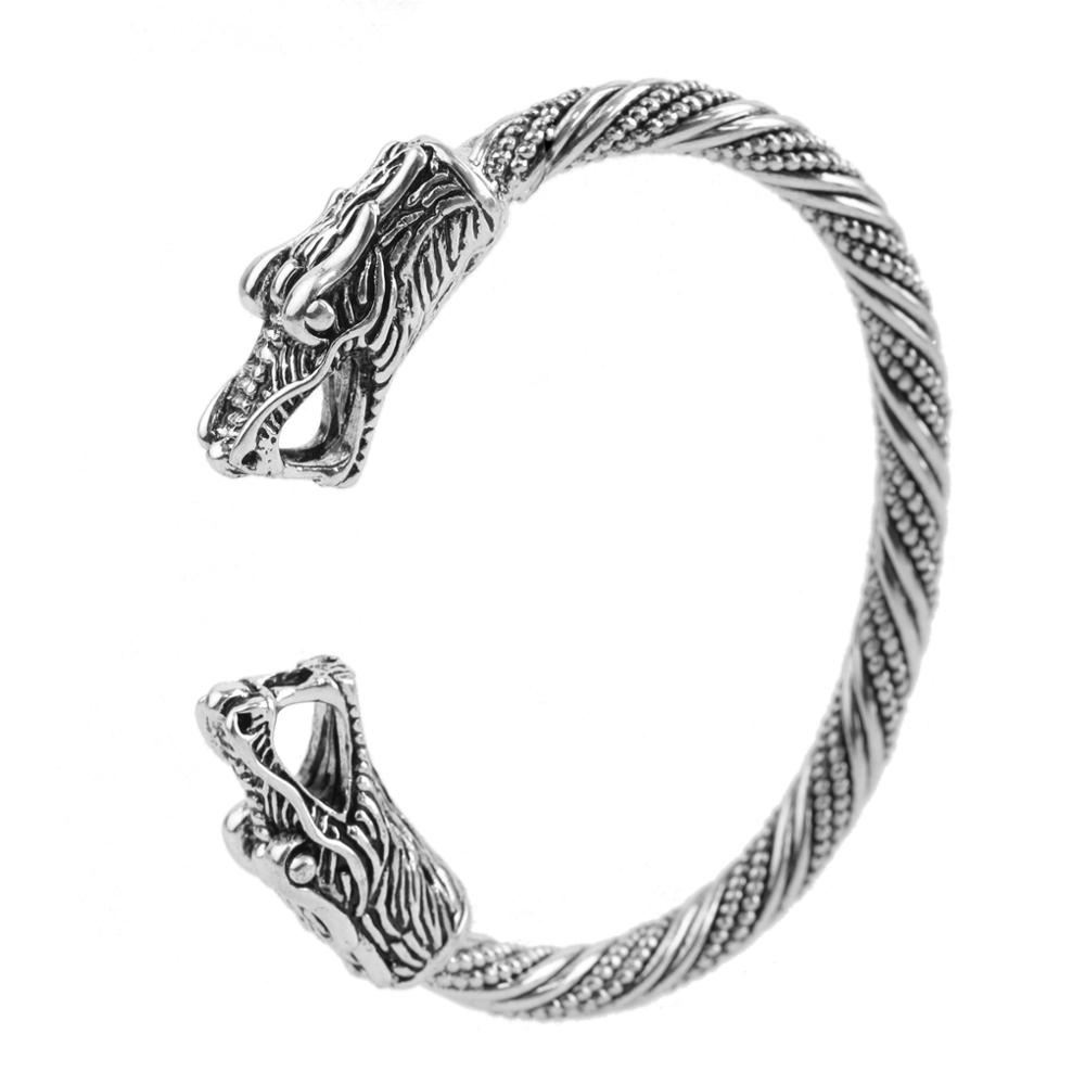 2018 Top Quality Pagan Viking Dragon Bracelets Bangles for Mens Cuff Screw Bangle Bracelet Gifts фото
