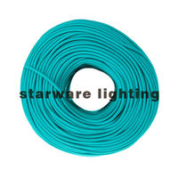 Electric wire coated fabric wire/Turquoise