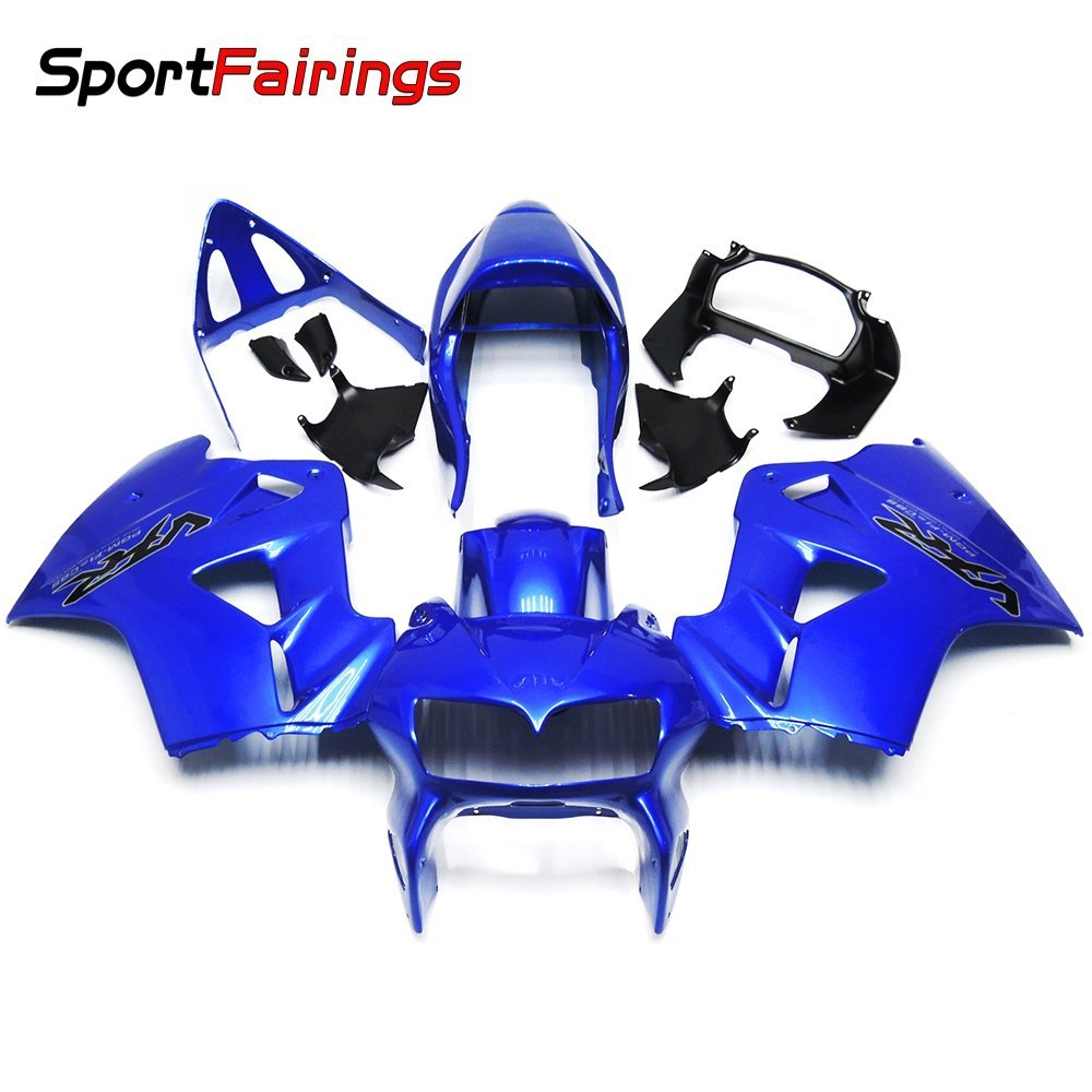Sportfairings Full Injection Fairing Kits For Honda VFR800 RC46 2002 2003 2004 2005-2012 Fairings Gloss Blue Cowlings
