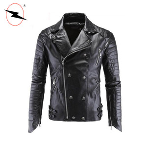 Mens slim fit coats cheap natural kart racing leather jackets