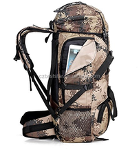 Camouflage Long Strapped Large BackPack with Zippers
