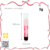 Newest portable red cosmetic 3g capacity empty solid fragrance case