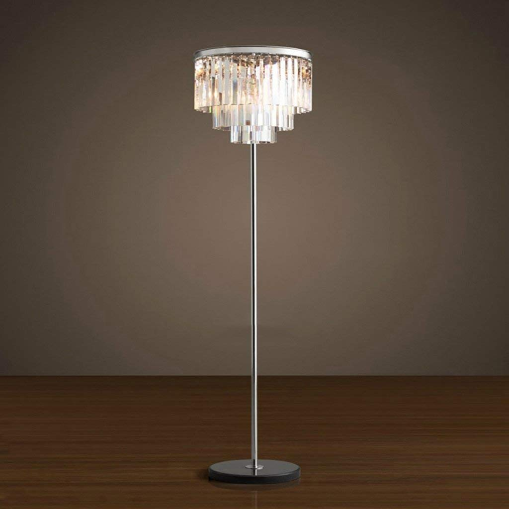 Edge To Floor lamp Crystal Floor Lamp American Style Modern European Style Simple Creative Living Room Bedroom Vertical Floor Lamp