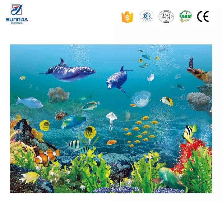 Hohe qualit t g nstigen preis 3d fliesen delphin design bad 3d fliesen seaworld 3d - 3d bodenfliesen ...