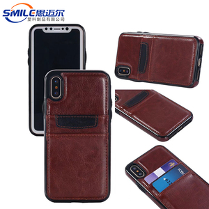 New design CE approved factory supply for iphonex pu leather case,for iphone x case brown leather