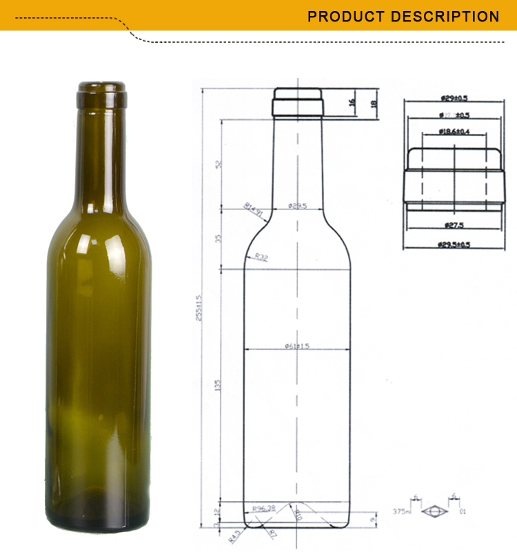 Colored mini wine bottles wholesale 375ml cork top buy for Where to buy colored wine bottles