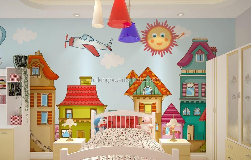 Papel pintado de la habitaci n de los ni os muchacho y for Papel pintado personalizado