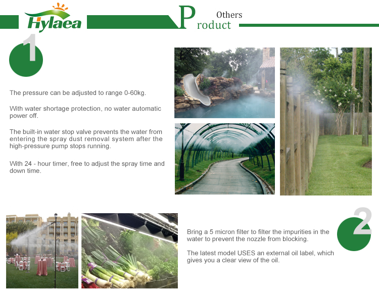 High Pressure Greenhouse Misting System / Misting Pump