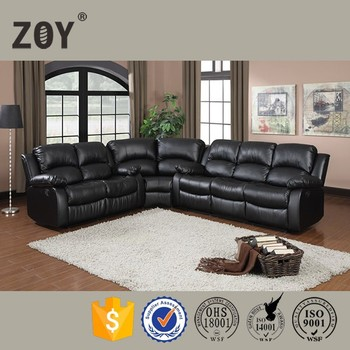 best hot sale home furniture recliner sofa modern leather sofa for ZOY -9393A