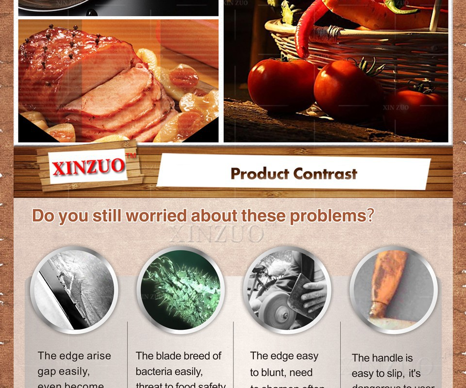 Xinzuo 8 Quot Inches Chef Knife Damascus Steel Kitchen Knives