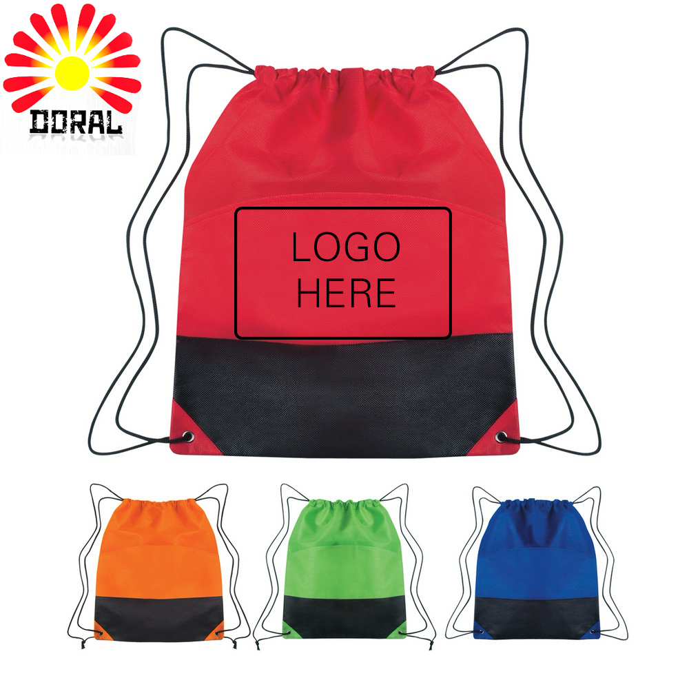 Promotional Wholesale Colorful Gym Cotton Drawstring Shopping Bag for Trip