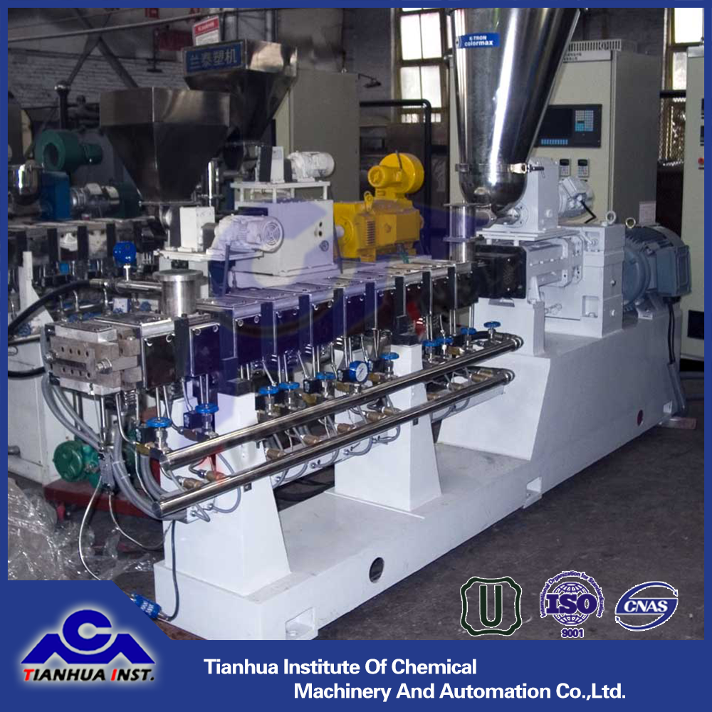 High quality color or carbon black masterbatch twin screw extruder machine/ rubber extruder SHJ-60H with competitive price