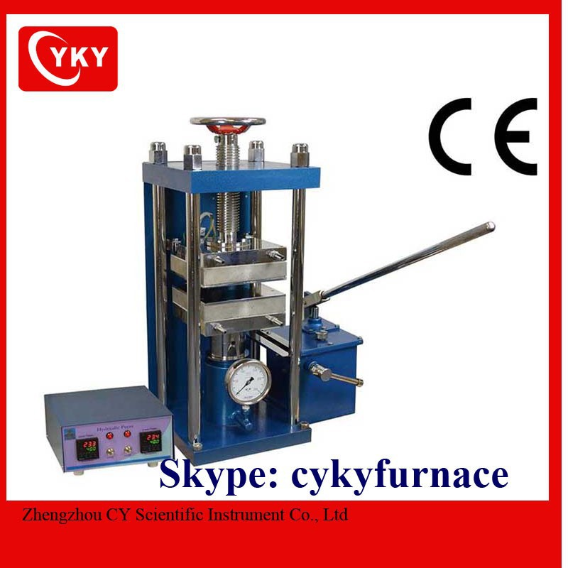 250C - 25T manual Small Hydraulic Lamination Hot Press YLJ-HP88V / Hydraulic Press
