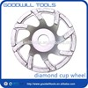 new design ceramic bond diamond grinding cup wheel with coolant