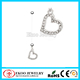 Bio Plastic Crystal Heart Maternity Belly Button Rings