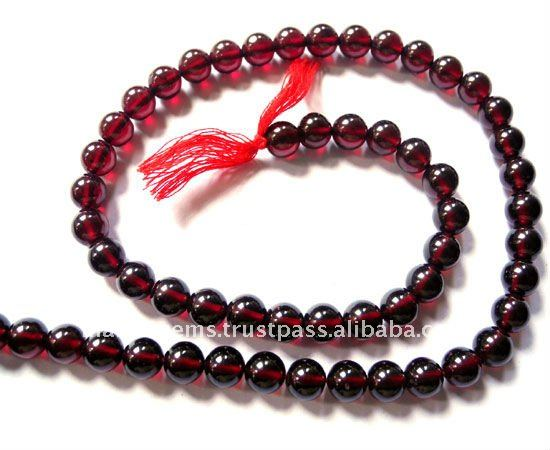 Natural Fine Quality Garnet Plain Round Balls Loose Bead