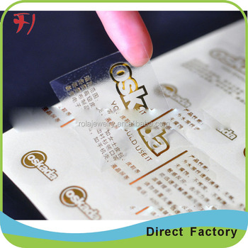 Hot Stamp Cheap Custom Private Logo Print My Own LabelsCosmetic - Print your own stickers