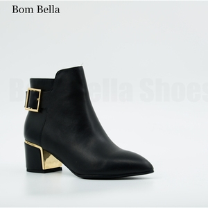 BBLA614 Low price wholesale high heel lady woman ankle boots shoes women leather short boot