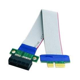 Cablecc PCI-E Express 1X Slot Riser Card Extender Extension Ribbon Flex Relocate Cable 20cm