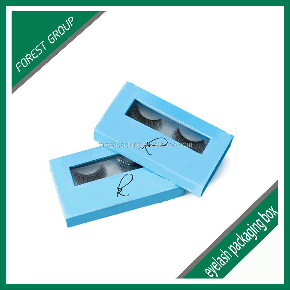 <strong>custom</strong> printed cardboard boxes grey chip board false eyelash packaging box wholesale