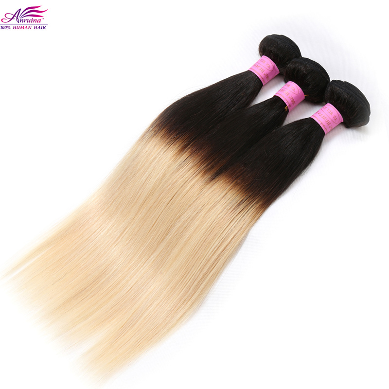 Cheap Two Tone Ombre Brazilian virgin hair straight 7A Brazilian human hair 2 Bundles Ombre Hair Extensions