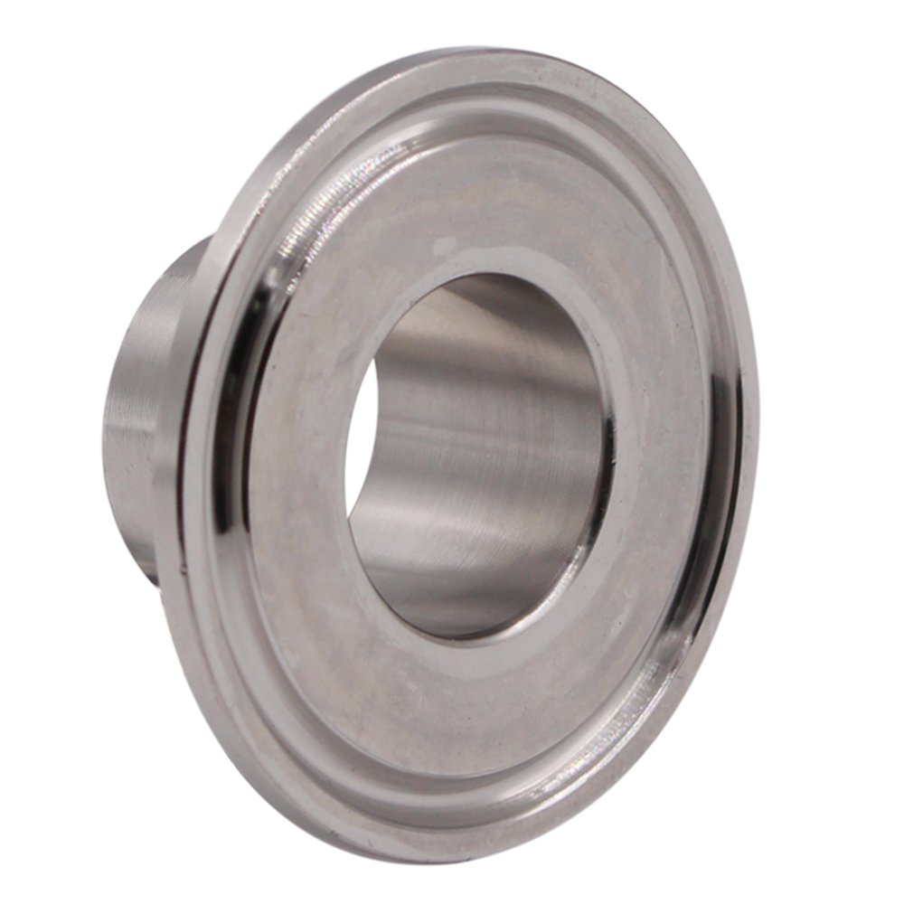 "Dernord Stainless Steel 304 Sanitary Fitting, Long Weld Clamp Ferrule FitsTri Clamp (25MM/1"" Tube OD)"