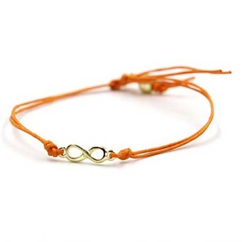 Colored Cotton Waxed Cord Friendship Love Hand Made Weave Adjule Infinity Bracelet Product On