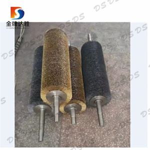Spiral Wrapped Steel Wire Coil Metal Grip Rollers Brushes