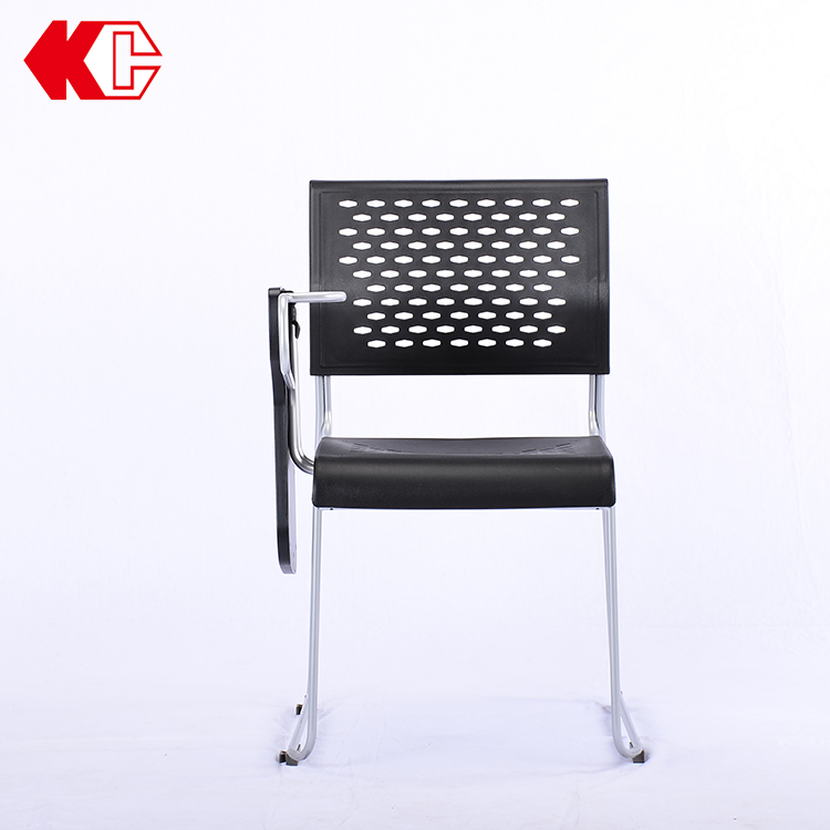 ODM Full Flap Tablet Folding Mesh Training Chair With Writing Tablet Arm