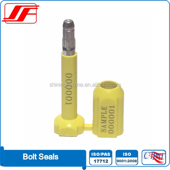 Iso 17712 H Certified Anti-rotary Container Bolt Seals S103d For High  Security - Buy Container Bolt Seals,Bolt Seals,Container Seals Product on