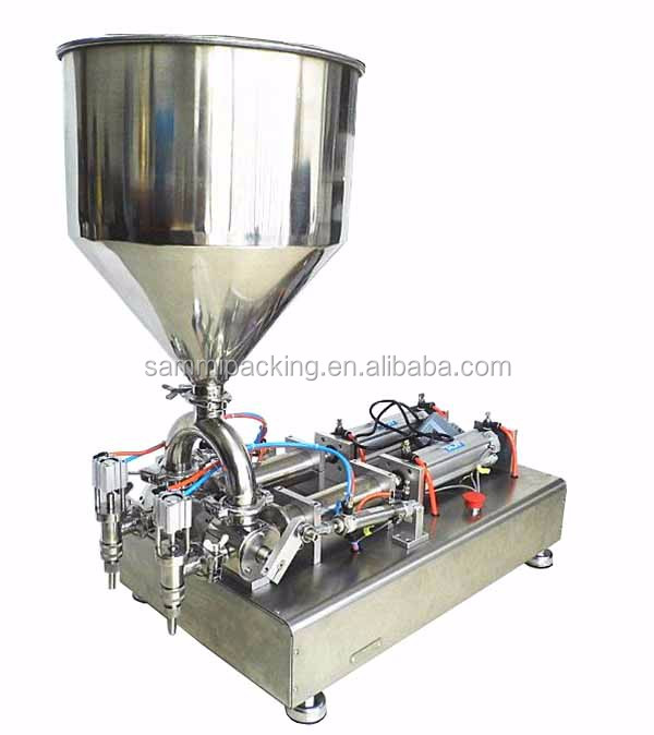 Double heads semi-automatic cheese/cream /sauce/paste/lotion filling machine