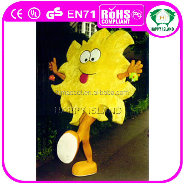 HI CE adult sun costume with big smiling face, cheap sun mascot costume for advertising