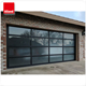 American quality standard customized glass panel automatic garage door