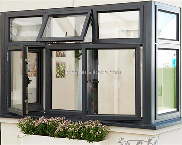 1.4mm 2.0mm Profile Casement Window With Crank French Window Supplier Aluminum Heavy Duty Import Casement Window for Restaurant