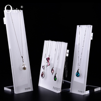Oirlv Custom L Shape White Acrylic Block Jewelry Display Stand Props Necklace Display Stand Plexigass Display Stand