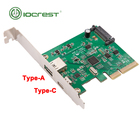 PCI express x4 to 1 port usb 3.1 type-A and 1port type c express card usb c pcie