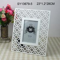 Wholesale elegant white resin photo frames 24x36