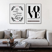 Love Theme Vintage Retro A4 Art Print Picture Customized Design Wall Picture Art framed art