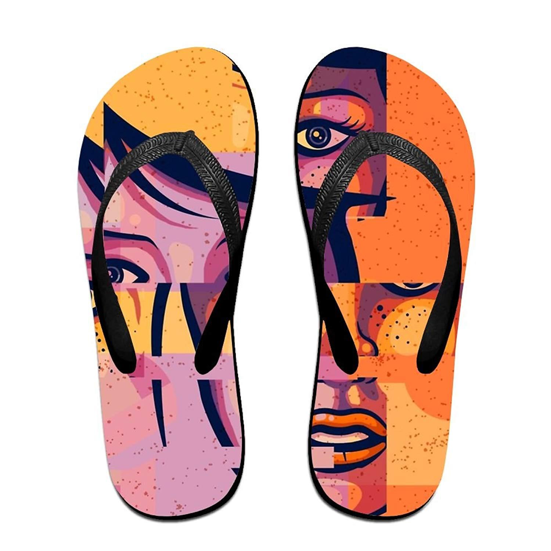 835d4b432 Get Quotations · Cool Girl Top Quality Unisex Flip Flops Rubber Thong Sandal  Beach Slipper For Women Men