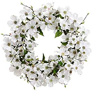 Buy 24 silk dogwood pussy willow flower hanging wreath white 24 silk dogwood pussy willow flower hanging wreath white pack mightylinksfo