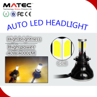 Multicolor new design replace halogen autopart led headlamp bulb with CE 12V 40W 4000LM car led headlamp h4 h7 h13 9005 9006