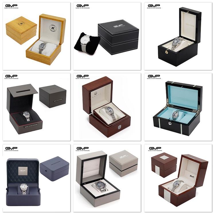 ユニークな黒-レッドカスタマイズ革オーガナイザーコレクション正方形の男性包装ディスプレイケースボックス