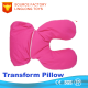 Sieste Functional Throw Pillow Cases Plush Student Noon Break Car Cushion Pink Double Use 2 In 1 Cervical Camping Pillow